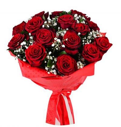 доставка цветов в анталии Букет из 15 красных роз