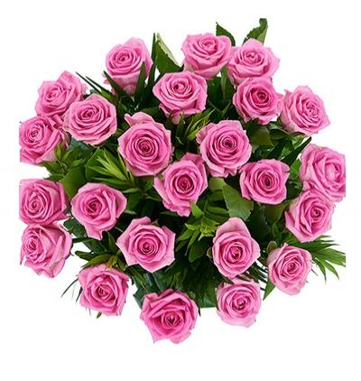 lilyum ve güllerden buket 25 Pembe Gül Buketi