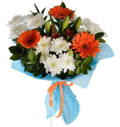 sepette karma Çiçekler Karma Çiçek Demeti
