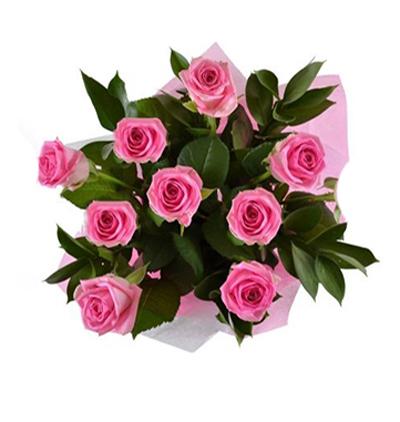 lilyum ve güllerden buket 9 Pembe Gül Buketi