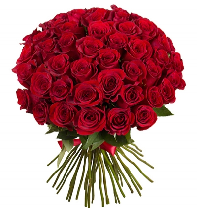 доставка цветов в анталии Шикарный букет из 51 красной розы