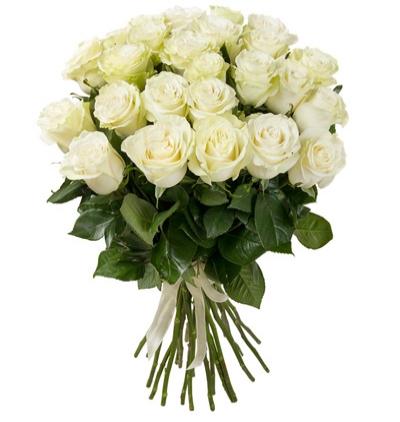 krizantem ve güller 25 Beyaz Gül Buketi