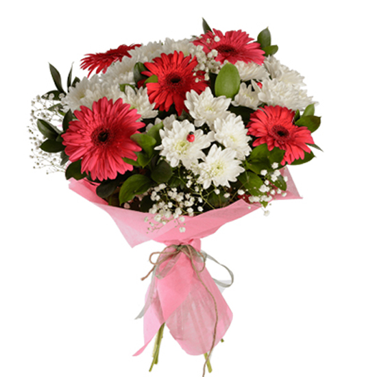 доставка цветов в анталии Букет из гербер