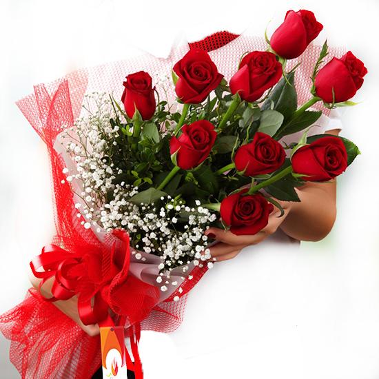 доставка цветов в анталии 9 Красных Роз