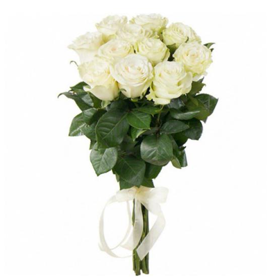 antalya flora 11 White Roses Bouquet