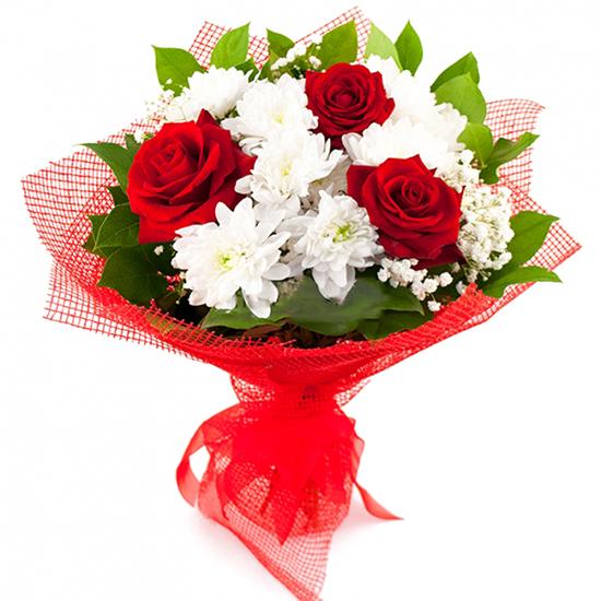 доставка цветов в анталии Розы и Кризантем