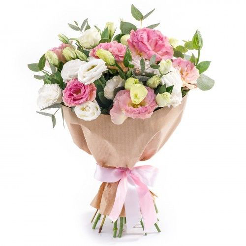 доставка цветов в анталии Розовый букет Lisyantus